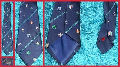 Official Rugby Union World Cup 1991 Wales Scotland Ireland England Neck Tie VGC
