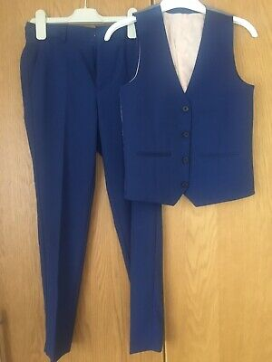 Boys River Island Smart Trousers And Waistcoat - Age 10 - In Very Good Condition