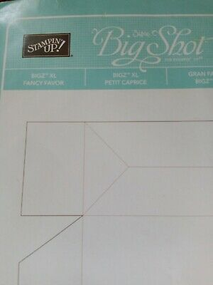 Sizzix /Stampin Up! RETIRED Big Shot Bigz Die Fancy Favour box