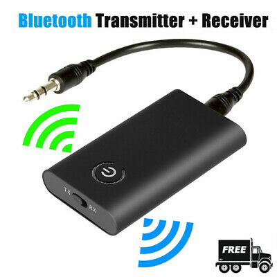 3.5mm Bluetooth 5.0 Transmitter and Receiver 2-in-1 Wireless Car Home Adapter US