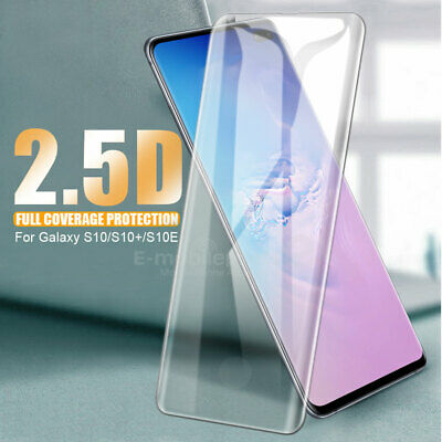 For Samsung Galaxy S10 Clear Full Coverage edge Tempered Glass Screen Protector