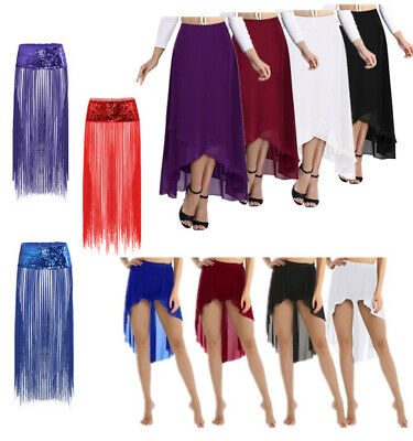 Women's Chiffon Boho Long Maxi Skirts Party Cocktail Summer Beachwear Sun Dress
