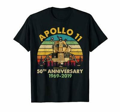 Vintage Apollo 11 50th Anniversary Moon Landing 1969 - 2019 Tshirt Tee Shirt