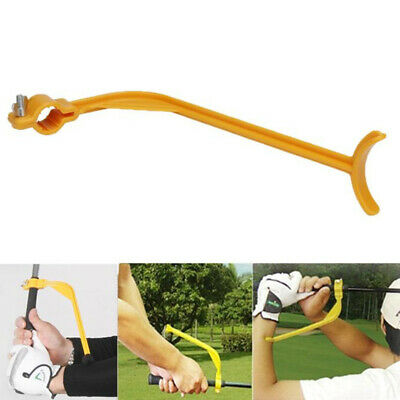 Golf Swing Trainer Practice Guide Beginner Gesture Alignment Training Aid Tool<w