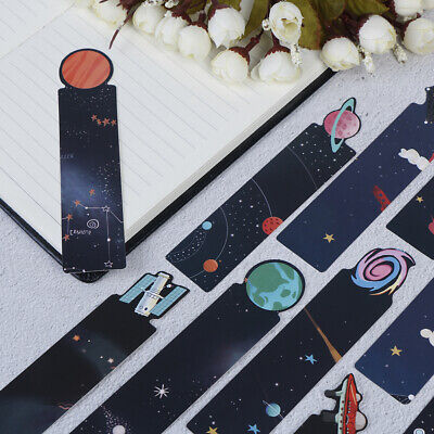 30Pcs/Set Planet Bookmark Message Card Creative Galaxy Paper Bookmarks<w
