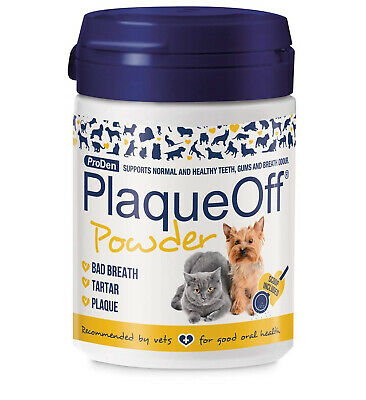 Proden Plaque Off For Cats Dogs NATURAL Gum Cleans Teeth Cat Dog Hygiene 60 g