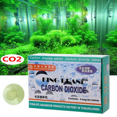 80x Aquarium CO2 Tablet Carbon Dioxide For Plants Fish Tank Aquatic Diffuser<w