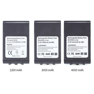 21.6V 2200mah Li-Ion Battery Replacement For Dyson Battery V6 DC58/61/62/72/74