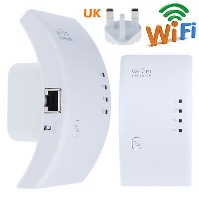 300mbps 2.4g Wireless wifi router repeater range extender signal booster uk plug