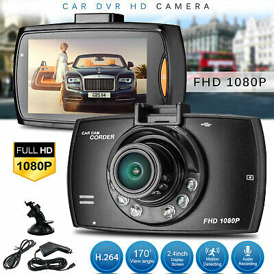 HD 1080P 170° Angle Car Van Dash Cam DVR Recorder 2.4″ LCD With Video Camera UK