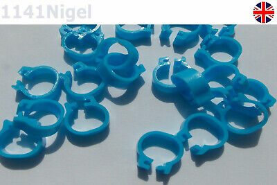 Light Blue 8mm ID 11mm OD Bird Bayonet Identification Ring 5mm Wide Pigeon Rings