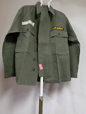 Vintage US Army HBT Shirt/Jacket with Plastic Buttons