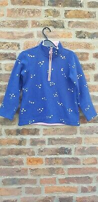 ⭐🌈🦄🌺🔥 JOULES JNR FAIRDALE Rugby Zip Top Navy Silver Stars 7-8 🔥🌺🦄🐴🌈