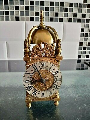 Antique Mini Brass Lantern Clock