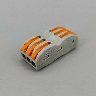 10pcs 3 Pin Universal compact wire wiring connector conductor terminal block