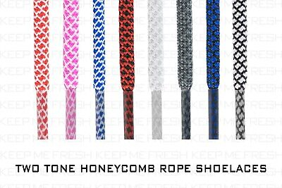COLORFUL ROPE TWO TONE SHOELACES NIKE ADIDAS ASICS Laces BUY 2 GET 1 FREE