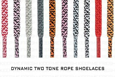 Rope Two Tone Shoelaces For Nike Adidas Converse Athletic Shoes Buy 2 Get 1 Free