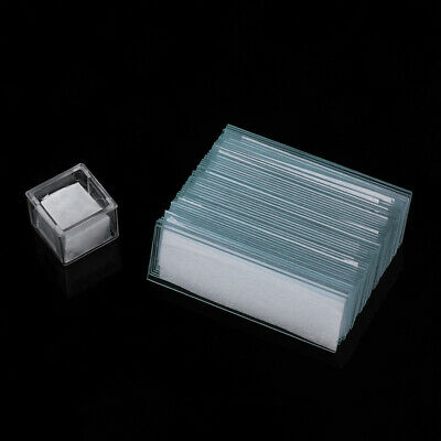 50x Blank Microscope Slides 100x Square Cover Glass for Lab Optical Microscope