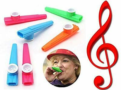 """UK 4"""" Plastic KAZOO Music Maker 4 Assorted Colours Childrens Toy Kids Gifts"""
