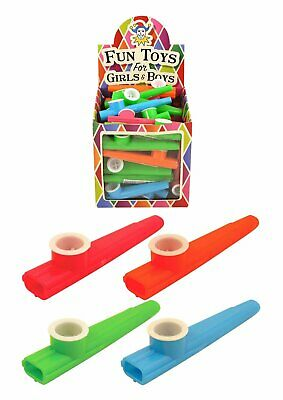 Childrens Toy Plastic KAZOO Music Maker 4 Assorted Colours 11cm Kids Gifts UK
