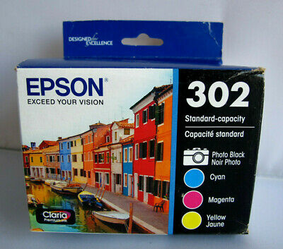 Epson 302 Standard Capacity Claria Premium Ink Cartridges 4-Pack EXP 11/2020