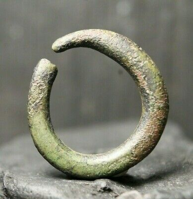 Ancient Viking Primitive Bronze Ring,  Archaeological Find, 3th-9th Century AD