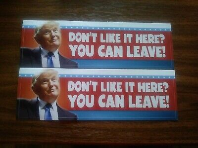 Pack of 2 Donald Trump 2020 Bumper Sticker KEEP AMERICA GREAT..US SELLER!!!