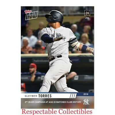 Gleyber Torres - 7/24/2019 MLB TOPPS NOW® Card #567 - New York NY Yankees 20 HRs
