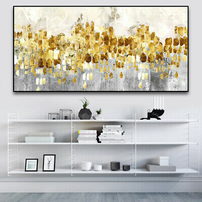 YA1157# Modern Home decor abstract Gold Foil Oil Painting 100% Hand-painted