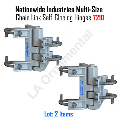 Nationwide Industries Multi-Size Chain Link Self-Closing Hinges (One Pair)
