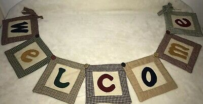 Handmade Patchwork Patch Work Welcome Banner