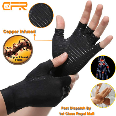 Copper Anti Arthritis Gloves Compression Support Hands Pain Carpal Tunnel Sleeve