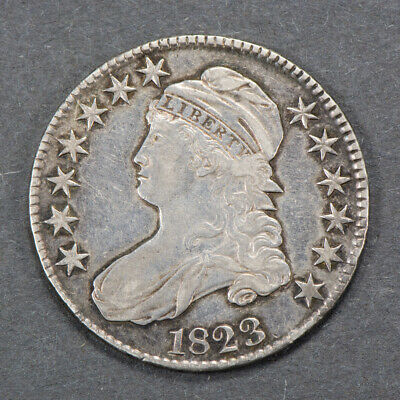 1823 50c CAPPED BUST HALF DOLLAR LOT#N253