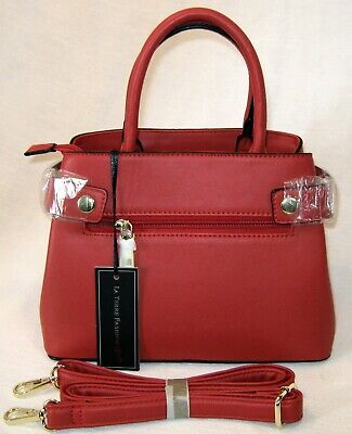 d19cf7972639 NWT LA TERRE Red Fashion Vegan Satchel Peta - Approved - $16.99 ...