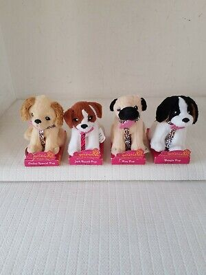 "4 Our Generation Pups: Pug, Jack Russell, Cocker Spaniel, Beagle for 18"" Doll"