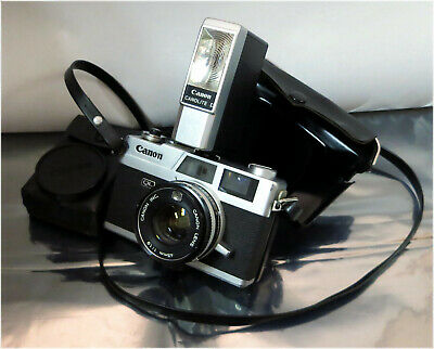 Canon Canonet QL19, SE 45mm F/1.9 Film Camera w/ Canolite D Flash Light