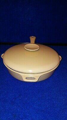Michael Lax design copco large cast iron enamel skillet with lid
