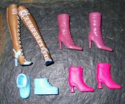 BARBIE DOLL SHOES m27 - 4 PAIRS of ASSORTED BOOTS