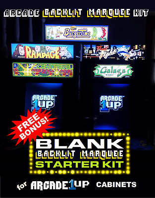 Arcade1up Blank Marquee Starter Kit for the Arcade1up Cabinet - Gray
