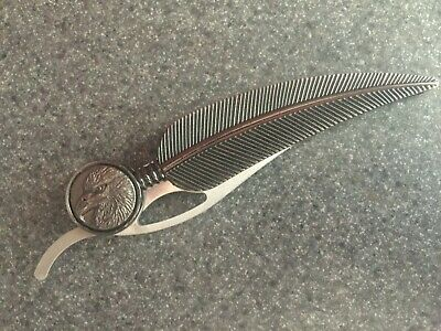 Athame Eagle Feather Stainless Altar Tool