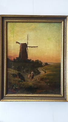 "LISTED ENGLISH ARTIST- A. CLARK -19th C - ANTIQUE  O / C -1884 -18""x14"" Signed"