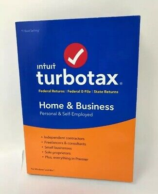 2018 TurboTax Home & Business Federal + E-File + State Tax Software, PC/Mac CD
