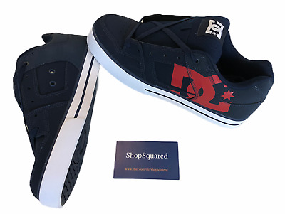 Dc Shoes (Pure Sp) Leather Navy Red Skate Shoes Mens Size 13 New Nib Fast Ship⚡