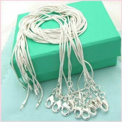 Wholesale Lots 925 Solid Silver Snake Chain Necklace Women For Pendant 16-26