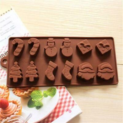 Silicone Cake Snowman Christmas Soap Baking Mold Candy Cupcake Tray Mould Cube