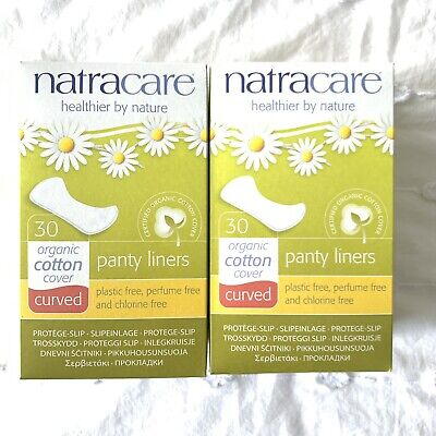 NATRACARE 2x Organic Cotton Panty Liners 30pk CURVED