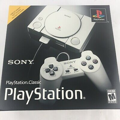 Original Sony PlayStation Classic Mini Console With 20 Classic Games, SCPH-1000R
