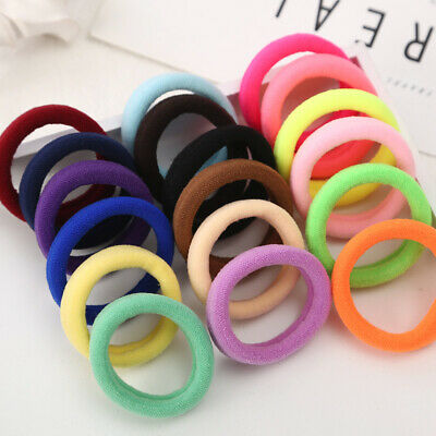 50Pcs solid thick Hair Band for Girl Ties Rope Ring Elastic Ponytail Holder
