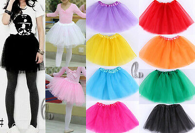 AU SELLER Girls Kids Teens Adults Ballet Dance 3 Layered Tulle Tutu Skirt da014