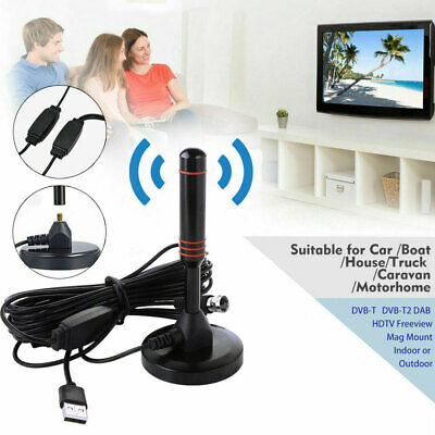 UK Best Portable TV Antenna Indoor Outdoor Digital HD Freeview Aerial Ariel 2019